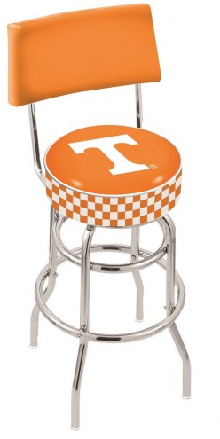 Tennessee Volunteers Chrome Double Ring Swivel Barstool with Back
