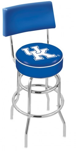 Kentucky Wildcats Chrome Double Ring Swivel Barstool with Back