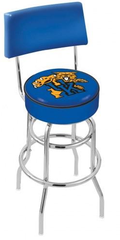 Kentucky Wildcats NCAA Chrome Double Ring Swivel Barstool with Back