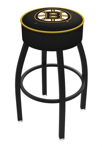 Boston Bruins Black Base Swivel Bar Stool