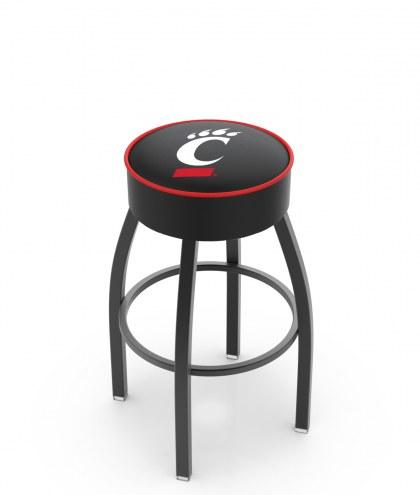 Cincinnati Bearcats Black Base Swivel Bar Stool