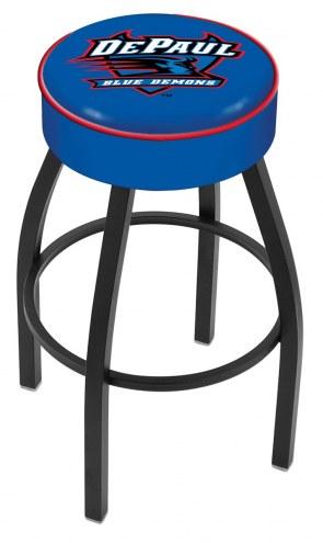 DePaul Blue Demons Black Base Swivel Bar Stool