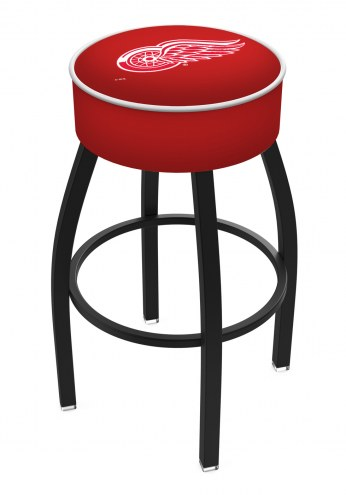 Detroit Red Wings Black Base Swivel Bar Stool