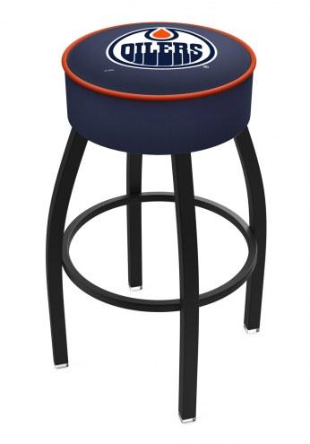 Edmonton Oilers Black Base Swivel Bar Stool