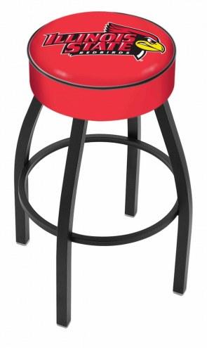 Illinois State Redbirds Black Base Swivel Bar Stool