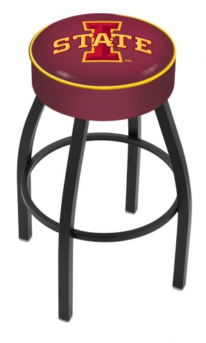 Iowa State Cyclones Black Base Swivel Bar Stool