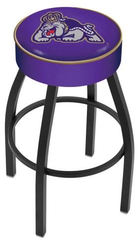 James Madison Dukes Black Base Swivel Bar Stool
