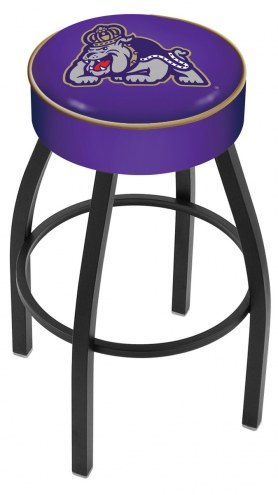 James Madison Dukes Black Base Swivel Bar Stool