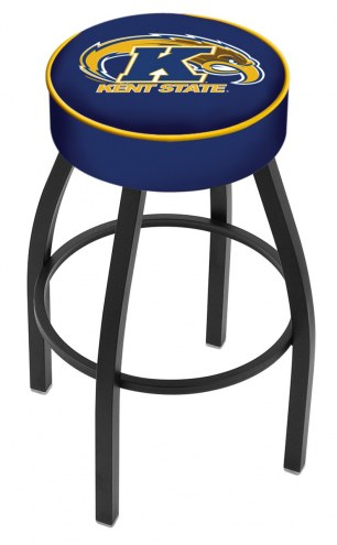 Kent State Golden Flashes Black Base Swivel Bar Stool