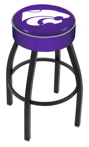 Kansas State Wildcats Black Base Swivel Bar Stool