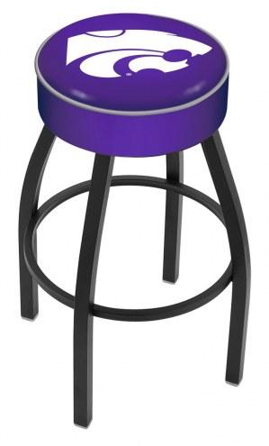 Kansas State Wildcats Black Base Swivel Bar Stool