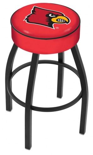 Louisville Cardinals Black Base Swivel Bar Stool