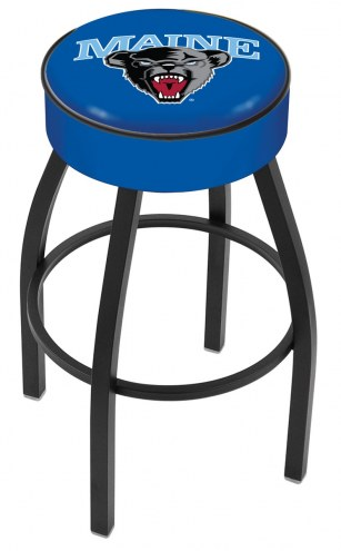 Maine Black Bears Black Base Swivel Bar Stool
