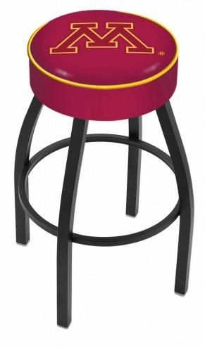 Minnesota Golden Gophers Black Base Swivel Bar Stool