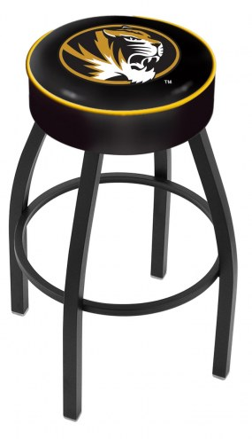 Missouri Tigers Black Base Swivel Bar Stool