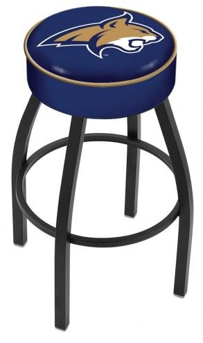 Montana State Bobcats Black Base Swivel Bar Stool