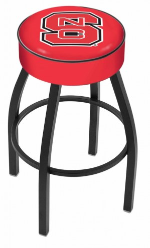 North Carolina State Wolfpack Black Base Swivel Bar Stool