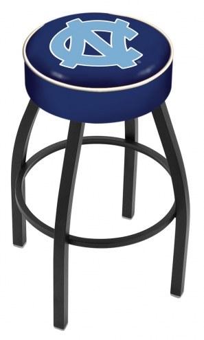 North Carolina Tar Heels Black Base Swivel Bar Stool