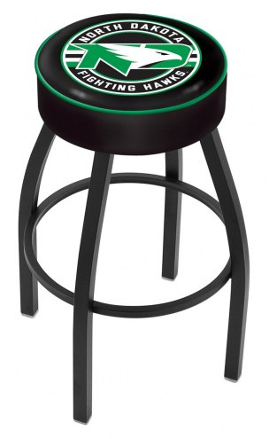 University of North Dakota Black Base Swivel Bar Stool