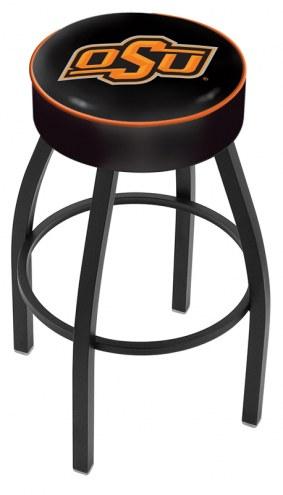 Oklahoma State Cowboys Black Base Swivel Bar Stool