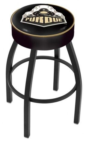 Purdue Boilermakers Black Base Swivel Bar Stool