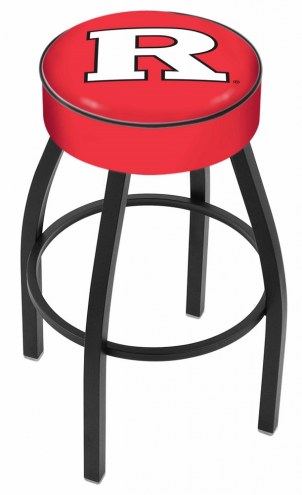 Rutgers Scarlet Knights Black Base Swivel Bar Stool