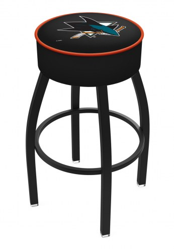 San Jose Sharks Black Base Swivel Bar Stool