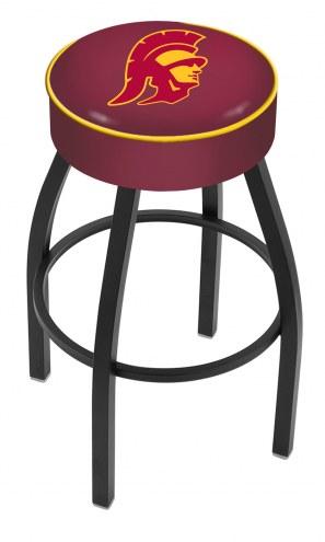USC Trojans Black Base Swivel Bar Stool