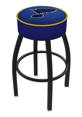 St. Louis Blues Black Base Swivel Bar Stool