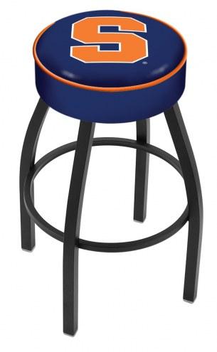 Syracuse Orange Black Base Swivel Bar Stool