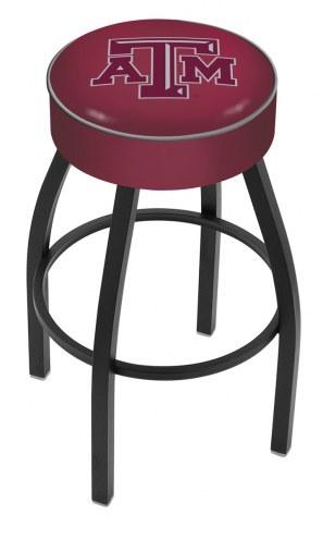 Texas A&M Aggies Black Base Swivel Bar Stool
