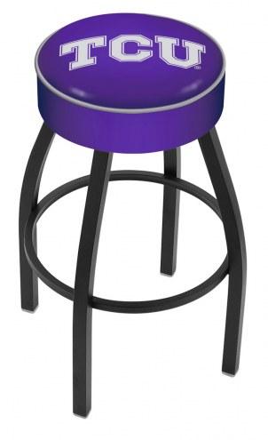 Texas Christian Horned Frogs Black Base Swivel Bar Stool