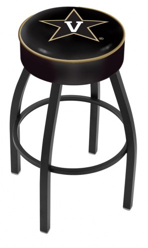 Vanderbilt Commodores Black Base Swivel Bar Stool
