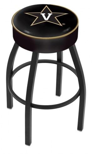 Vanderbilt Commodores Black Base Swivel Bar Stool