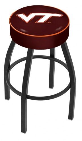 Virginia Tech Hokies Black Base Swivel Bar Stool