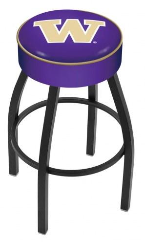 Washington Huskies Black Base Swivel Bar Stool