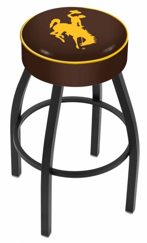 Wyoming Cowboys Black Base Swivel Bar Stool