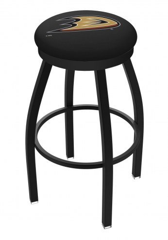 Anaheim Ducks Black Swivel Bar Stool with Accent Ring