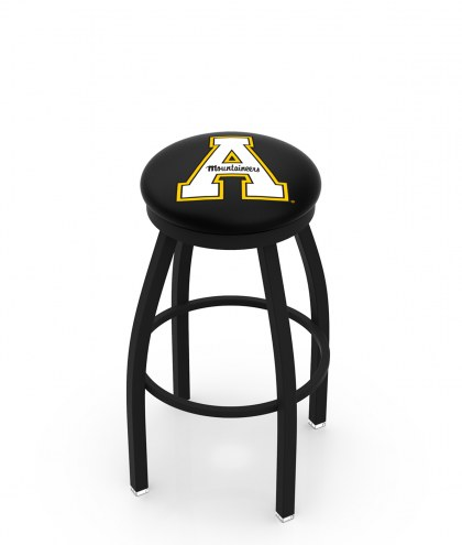 Appalachian State Mountaineers Black Swivel Bar Stool with Accent Ring