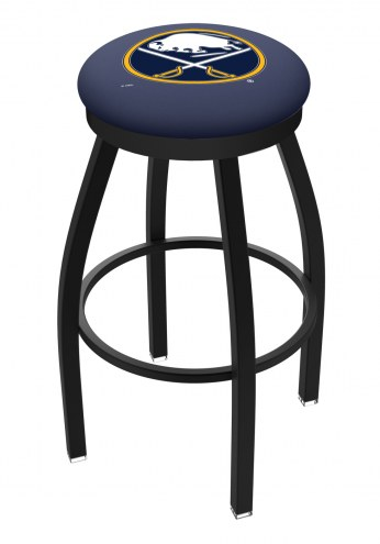 Buffalo Sabres Black Swivel Bar Stool with Accent Ring