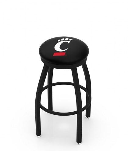 Cincinnati Bearcats Black Swivel Bar Stool with Accent Ring