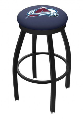 Colorado Avalanche Black Swivel Bar Stool with Accent Ring