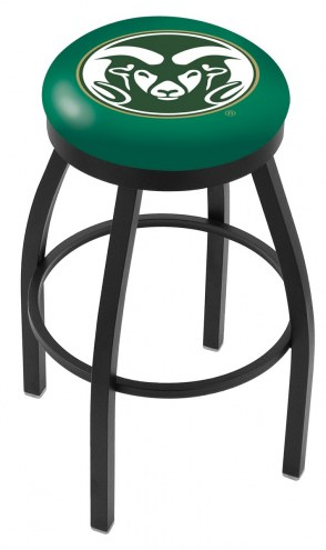 Colorado State Rams Black Swivel Bar Stool with Accent Ring