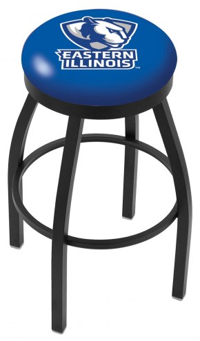 Eastern Illinois Panthers Black Swivel Bar Stool with Accent Ring