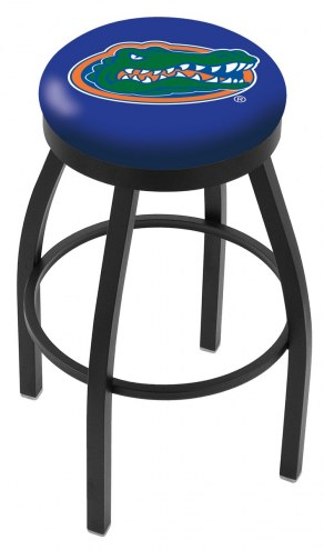 Florida Gators Black Swivel Bar Stool with Accent Ring