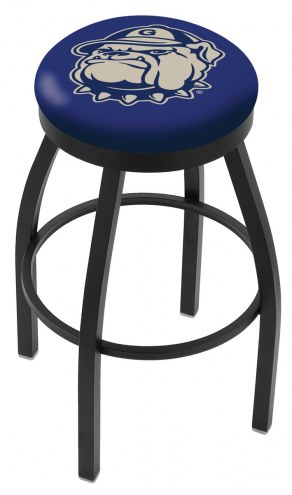 Georgetown Hoyas Black Swivel Bar Stool with Accent Ring