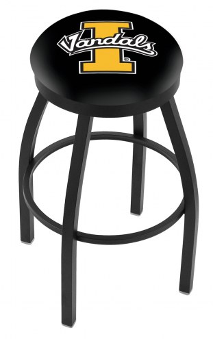 Idaho Vandals Black Swivel Bar Stool with Accent Ring