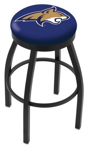 Montana State Bobcats Black Swivel Bar Stool with Accent Ring