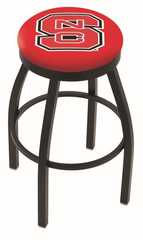 North Carolina State Wolfpack Black Swivel Bar Stool with Accent Ring