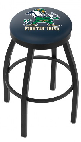 Notre Dame Fighting Irish Black Swivel Bar Stool with Accent Ring